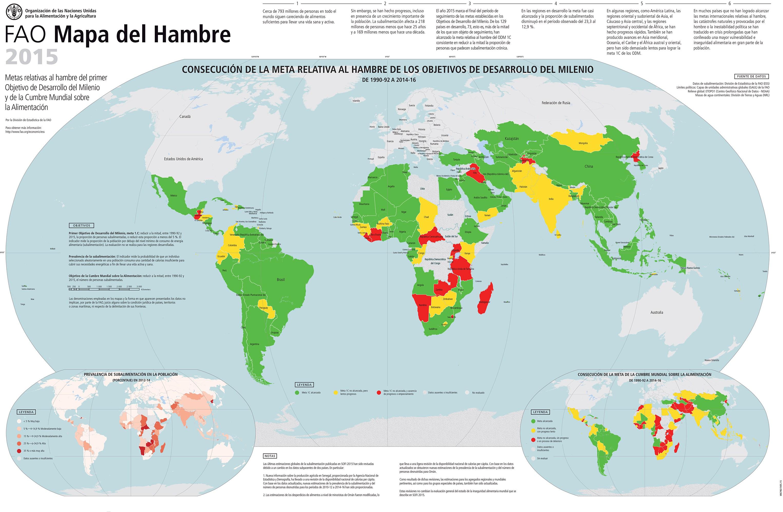 Mapa Del Hambre 2017.Fao El Estado De La Inseguridad Alimentaria En El Mundo 2015 Blogs Unah